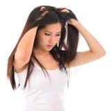 Problema do cabelo imagem de stock