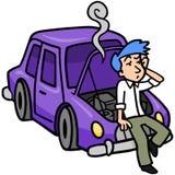 Problema do carro ilustração stock