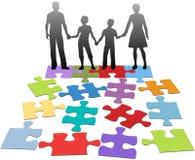 Problema do relacionamento de família que aconselha a solução ilustração royalty free