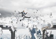 Problema e difficoltà che sormontano concetto Immagini Stock
