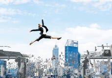 Problema e difficoltà che sormontano concetto Fotografie Stock