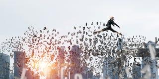 Problema e dificuldades que superam o conceito Imagens de Stock Royalty Free