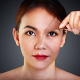 Problema e pele limpa Foto de Stock