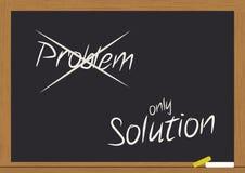 Problema e soluzione sulla lavagna Fotografie Stock