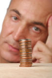 Problema financiero Imágenes de archivo libres de regalías