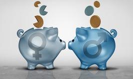 Problema financiero de la equidad de paga stock de ilustración