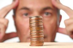 Problema finanziario Fotografie Stock Libere da Diritti