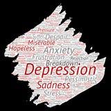 Problema mental del desorden emocional de la depresión del vector stock de ilustración