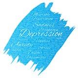 Problema mental del desorden emocional de la depresión del vector libre illustration