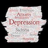 Problema mental del desorden emocional de la depresión del vector ilustración del vector