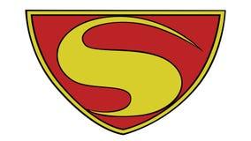 Problema ningún del superhombre símbolo 1940 de 7 S ilustración del vector