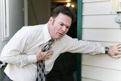 Problema o enfermedad del corazón imagenes de archivo