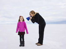 Problema que comunica-se com nossa criança Fotografia de Stock