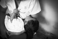 Problema social, tensión adolescente de las mujeres Foto de archivo libre de regalías