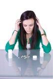 Problema teenager di tossicodipendenza fotografia stock