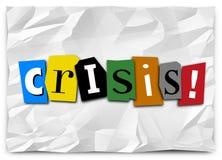 Problema urgente del problema de la situación de la emergencia de la nota de rescate de la crisis ilustración del vector