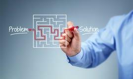 Problema y estrategia de solución Imágenes de archivo libres de regalías