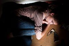 Problemas adolescentes. Soledad, violencia, depresión Imagenes de archivo