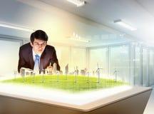 Problemas ambientais e inovações altas tecnologia foto de stock royalty free