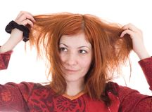 Problemas con el pelo imagenes de archivo