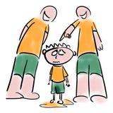 Problemas da educação física ilustração stock