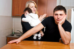 Problemas da família Imagem de Stock