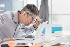Problemas da visão do local de trabalho imagens de stock royalty free