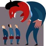 Problemas de gestão da raiva Foto de Stock