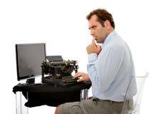 Problemas de las tecnologías del hombre de negocios Imagen de archivo