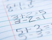 Problemas de matemática Imagem de Stock