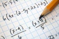 Problemas de matemáticas Imágenes de archivo libres de regalías