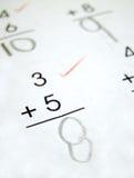 Problemas de matemáticas Fotos de archivo libres de regalías