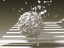Problemas de papel, bola inminente Imagen de archivo libre de regalías