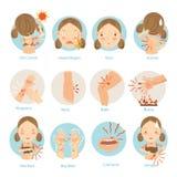 problemas de pele ilustração royalty free