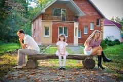 Problemas de una familia Foto de archivo libre de regalías