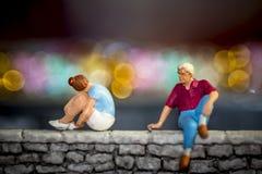 Problemas del amor - problemas de la relación Fotografía de archivo