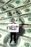 Problemas del dinero, concepto de la ayuda de la necesidad Fotografía de archivo libre de regalías