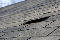 Problemas del material para techos Fotografía de archivo libre de regalías