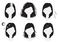 Problemas del pelo de la mujer Imágenes de archivo libres de regalías