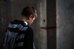 Problemas del teenaiger joven Fotos de archivo