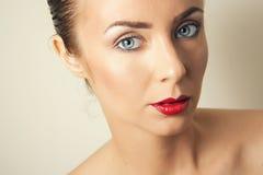 Problemas do envelhecimento da pele da cara fotos de stock