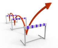 Problemas e desafio superados mostras do obstáculo do obstáculo Fotografia de Stock Royalty Free
