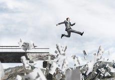 Problemas e dificuldades que superam o conceito Fotos de Stock