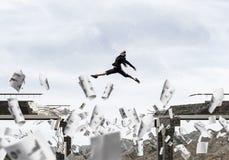 Problemas e dificuldades que superam o conceito Imagens de Stock