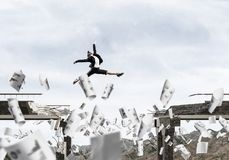 Problemas e dificuldades que superam o conceito Foto de Stock Royalty Free