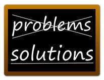 Problemas e soluções Imagem de Stock