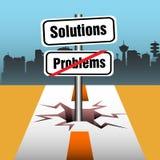Problemas e soluções Imagens de Stock