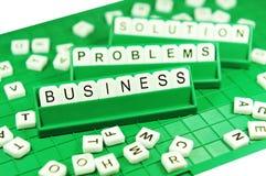 Problemas e soluções de negócio Fotografia de Stock Royalty Free