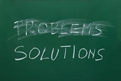 Problemas e soluções Foto de Stock Royalty Free