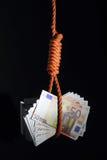 Problemas económicos Imagem de Stock